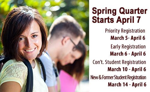 Foothill College Spring Quarter Registration At Foothill