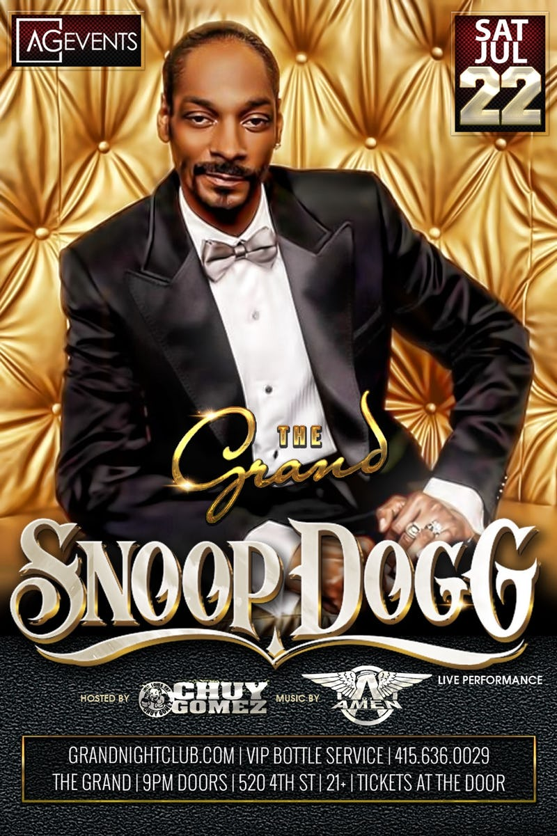 Snoop Dogg At The Grand At The Grand Nightclub In San Francisco
