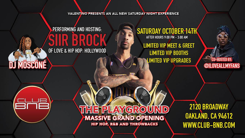 Siir Brock Of Love And Hip Hop Hollywood Live At Club Bnb In San