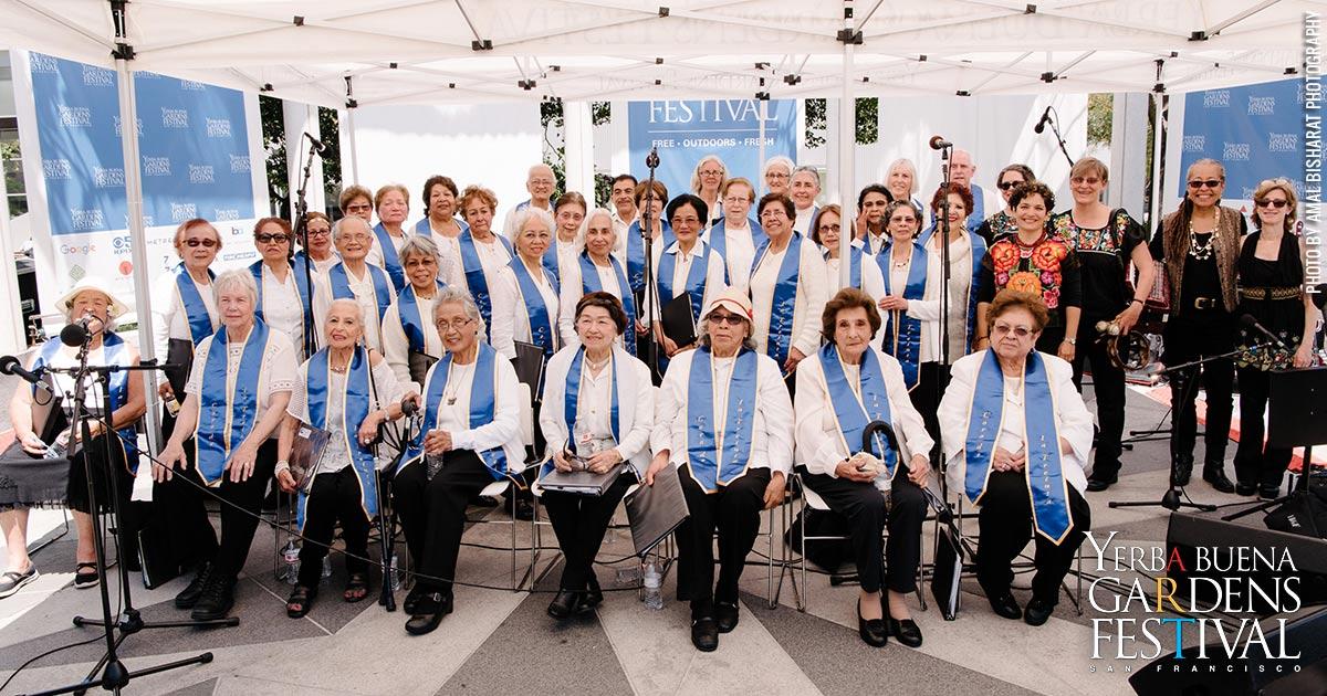 Yerba Buena Gardens Festival Presents Community Music Center Older Adult Choirs At Yerba Buena