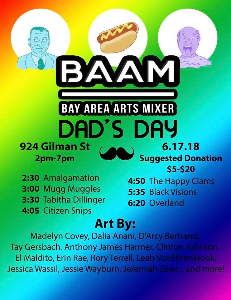 Bay Area Arts Mixer: Dad's Day Edition at 924 Gilman in San