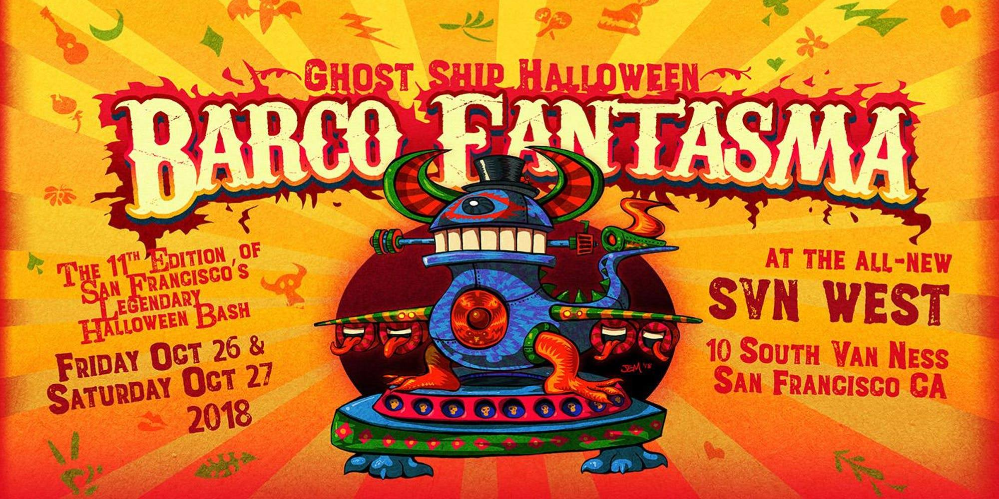 ghost ship halloween: barco fantasma - canceled at svn west in san