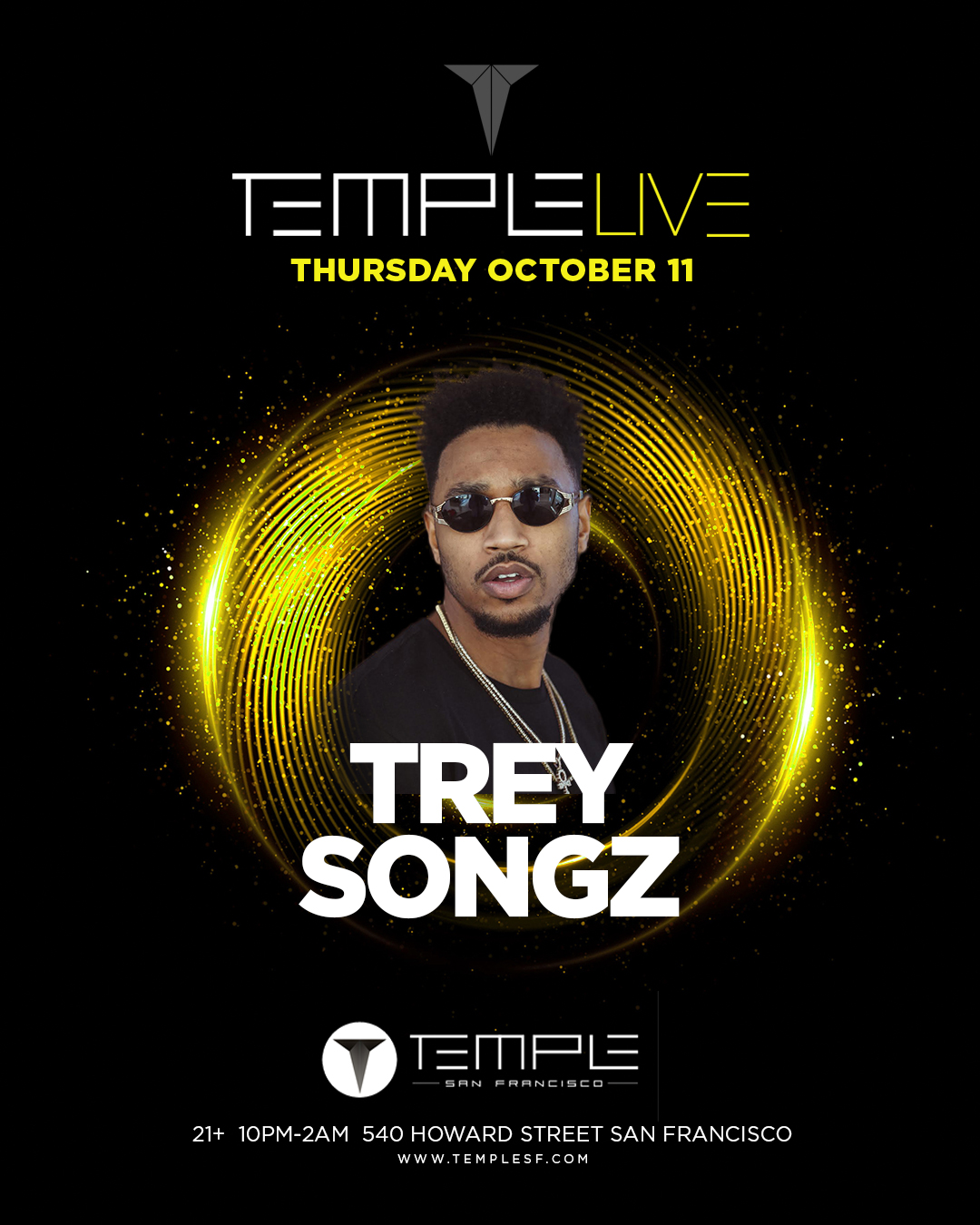 Temple Live Feat Trey Songz At Temple Sf In San Francisco Tickets