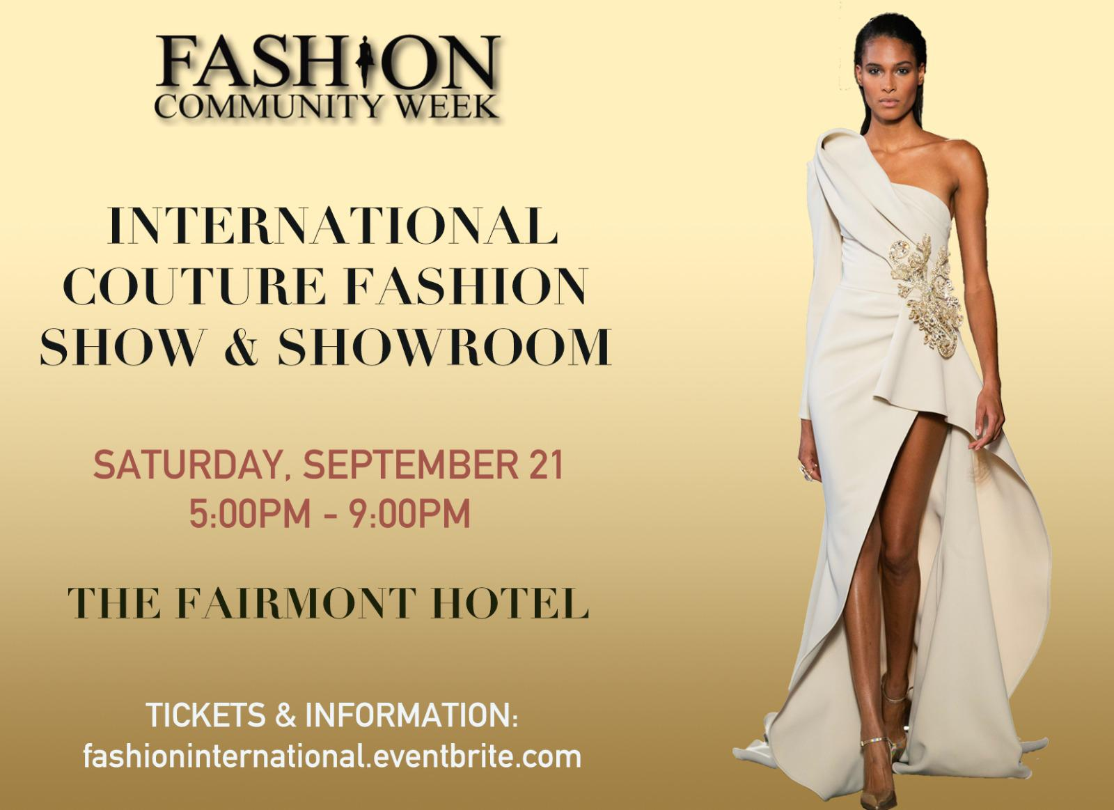International Designs Couture Fashion Show At The Fairmont San Francisco In San Francisco August 21 2019 Sf Station