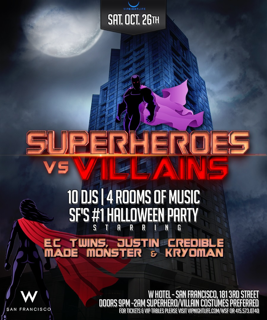 Saturday Halloween at W Hotel
