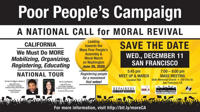 Events In San Francisco March 2020.Poor People S Campaign Mass Meeting And March In San