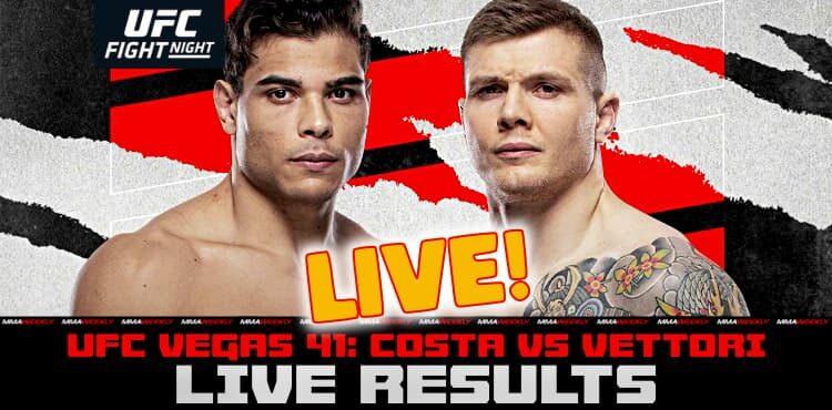 WATCH UFC Fight Night: Costa vs Vettori Live Stream MMA Full Fight Online TV Coverage at Tantara in San Francisco - October 24, 2021 | SF Station
