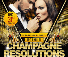 Champagne Resolutions New Years Eve