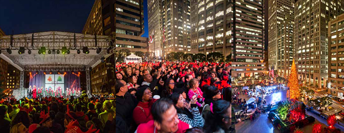 The Annual Tree Lighting at...