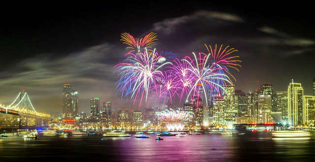 NYE Fireworks in San Francisco!