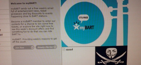 BART Website Hacked By Online Group Anonymous