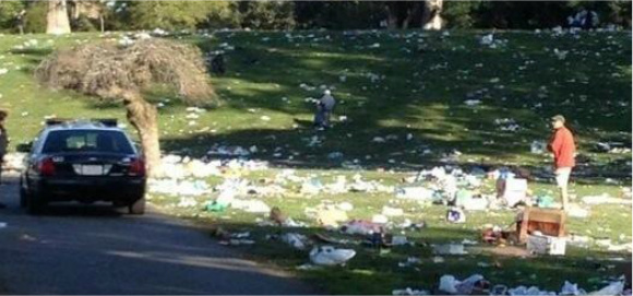 420 Revelers Leave Hippie Hill a Mess