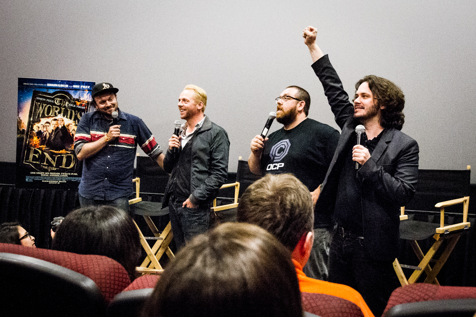 Simon Pegg, Nick Frost, and Edgar Wright Invaded San Francisco