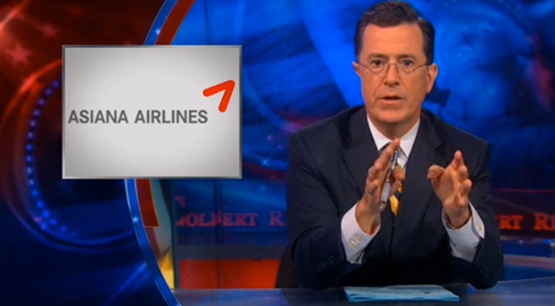 Video: Stephen Colbert On KTVU Asiana Crash Mistake