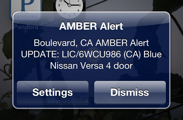 What Was That? Details on the Cell Phone Amber Alert Last Night