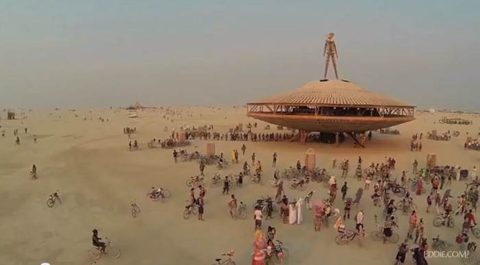 Video: Drone Captures Burning Man From Above