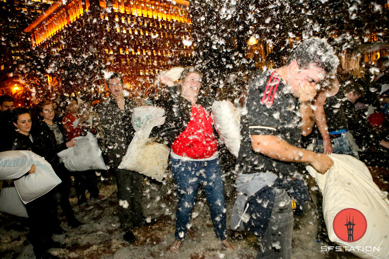 Photos From San Francisco's Massive Valetine's Day Pillow Fight