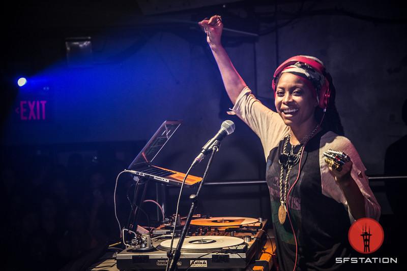 Photos: DJ Lo Down Loretta Brown (Erykah Badu) at 1015 Folsom