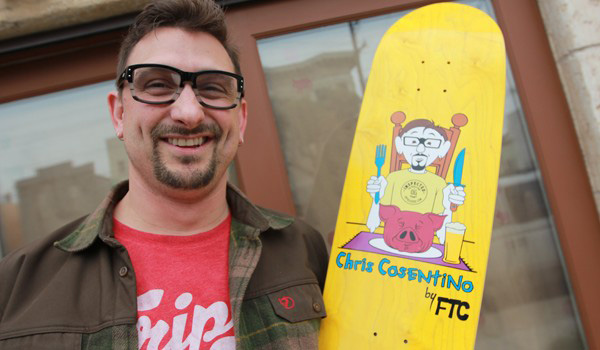 Giveaway: Enter to Win A Chris Cosentino FTC Skateboard, Cookbook and Comic