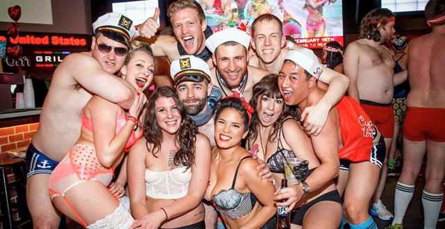 party for a good cause with valentine's day undie run - sf station, Ideas