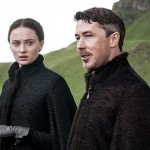 Sophie Turner as Sansa Stark and Aidan Gillen as Littlefinger. Photo Credit: Helen Sloan/HBO