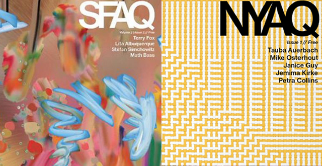 SF Arts Quarterly Magazine (SFAQ) Launches East Coast Counterpart NYAQ