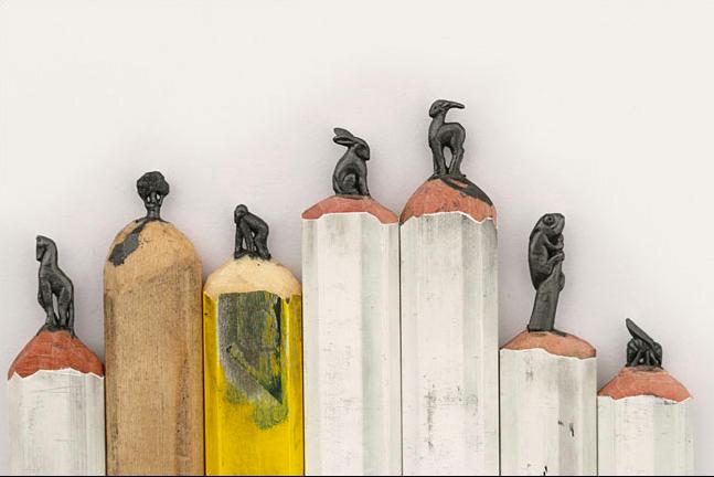 Artist Diem Chau creates tiny sculptures with pencil lead