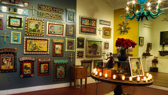 Inside Red Truck Gallery in New Orleans, curated by Noah Antieau