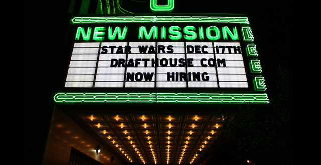 Coming Soon: Alamo Drafthouse New Mission Theater