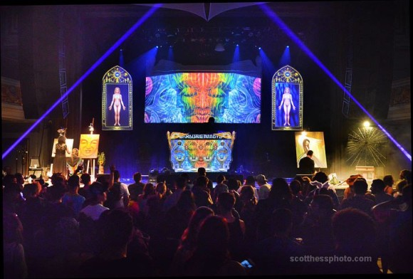 Live Painting on Bicycle Day at the Warfield, 2015