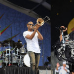 IG: @jazzfest /Left: Nick Jonas with Trombone Shorty, credit: Jacqueline Marque / Right: Janelle Monae