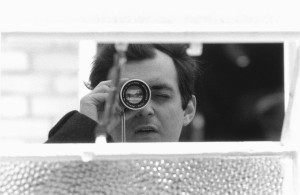 Stanley Kubrick with his viewfinder during the production of Lolita. © Warner Bros. Entertainment Inc.