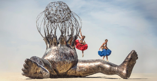A Look at Michael Christian's Iconic Burning Man Sculpture Art
