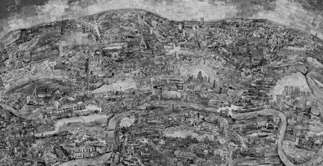 Sohei Nishino, Diorama Map London, 2010; courtesy the artist and Michael Hoppen Gallery, London
