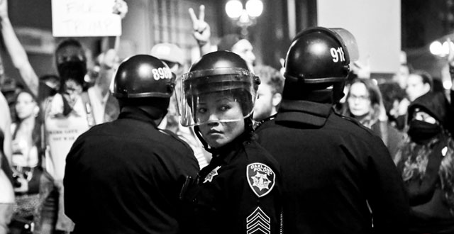 Photos of Oakland Protests After Election Results