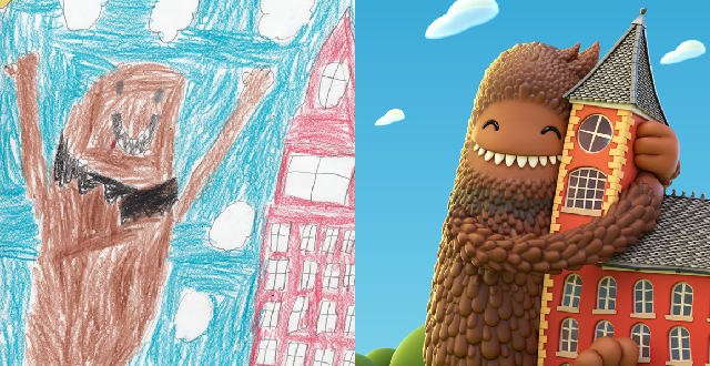 The Monster Project & Adobe Bring Kids' Crayon Drawings to Life