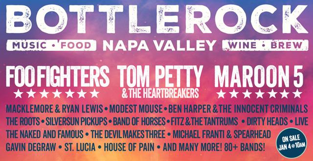 Win 2 Tickets to BottleRock Music Festival 2017