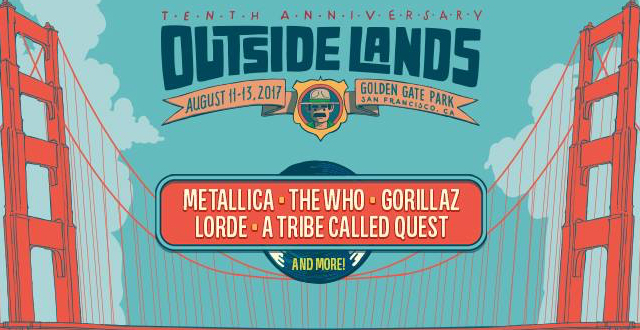 Outside Lands Announces 2017 Lineup: Metallica, The Who, Gorillaz