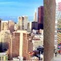 (L) View from the Hilton Union Square, (R) Barry McGee Installation