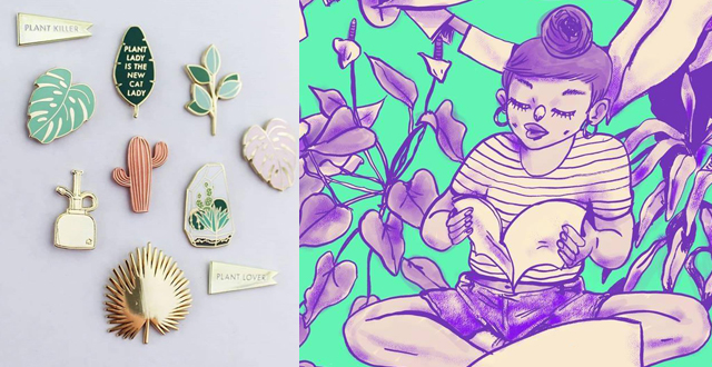 Left: Hemleva Pins at West Coast Craft, Right: East Bay Zine Fest