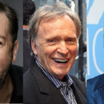Pictured: Ricky Gervais, Dick Cavett & Jane Lynch