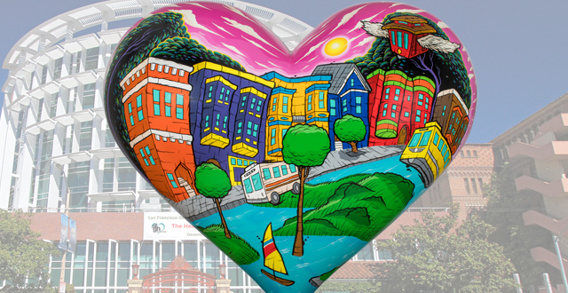 The New Iconic Heart Sculptures are Here! Bay Area Artists Team Up with SF General Hospital for Annual Fundraiser