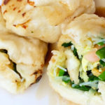 Chive, egg, and shrimp dumplings from Happy Dumplings, Photo via SoMa StrEat Food Park