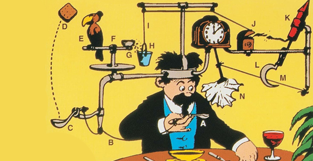 Cartoonist & Invention Illustrator Rube Goldberg's Career-Spanning Exhibition on View at the CJM