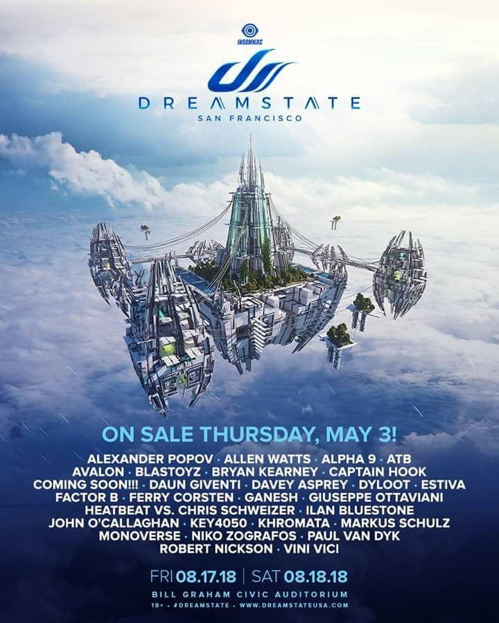 dreamstate-sf-2018-lineup