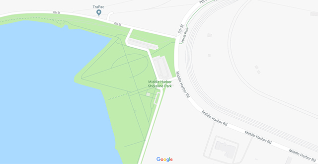 Middle Harbor Shoreline Park Map