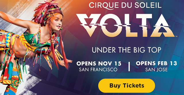 Win 2 Tickets to VOLTA by Cirque du Soleil under the Big Top in San Francisco
