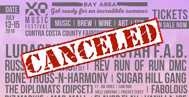 Contra Costa Venue Cancels Inaugural XO Music Festival