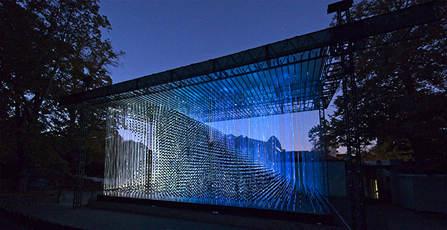 Reepicheep's Wave, by Bruce Munro,  photo by Mark Picktall