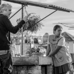 Roma, director Alfonso Cuarón and Yalitza Aparicio as Cleo